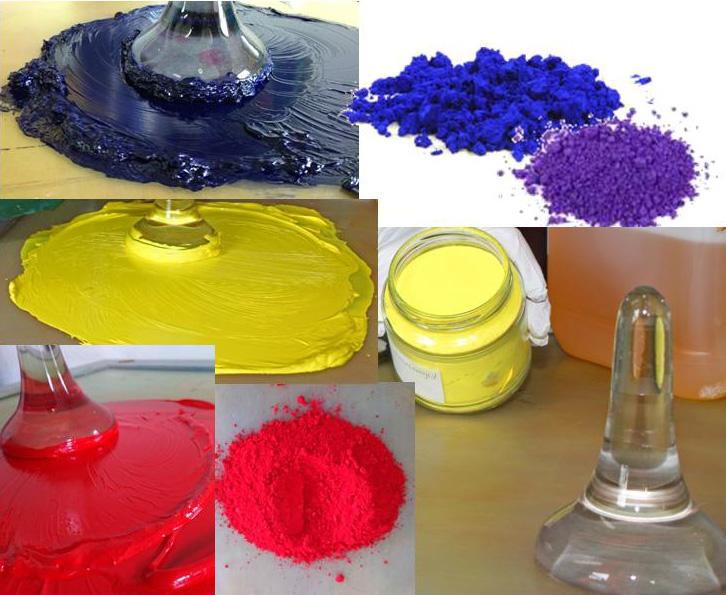 olie malerier med rene farvepigmenter
