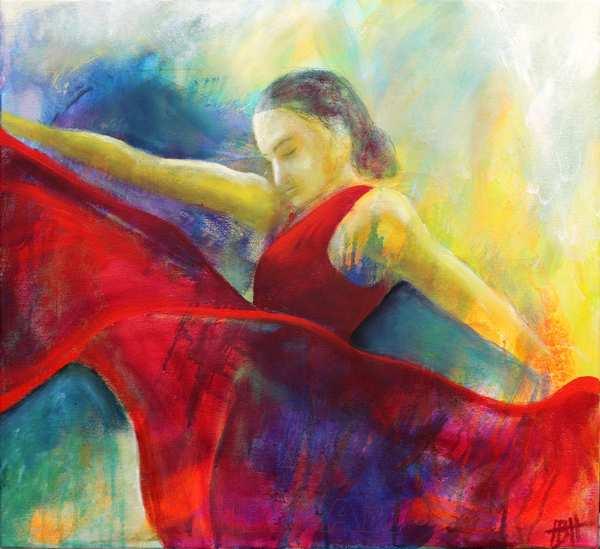 oliemalerier af flamencodansere