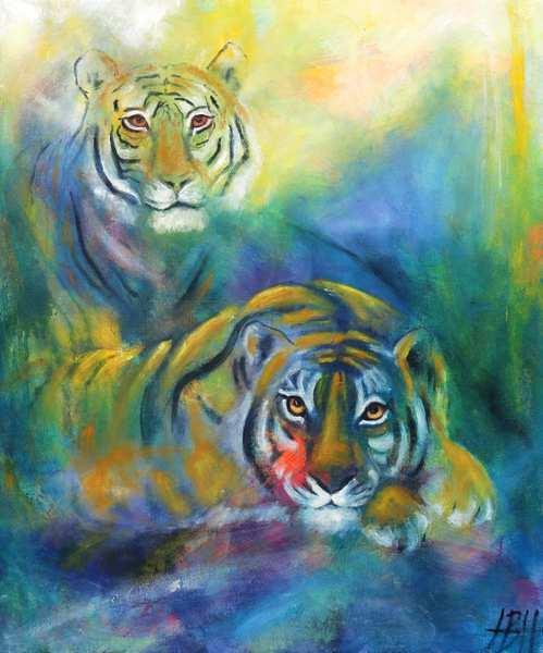 oliemaleri af tigre