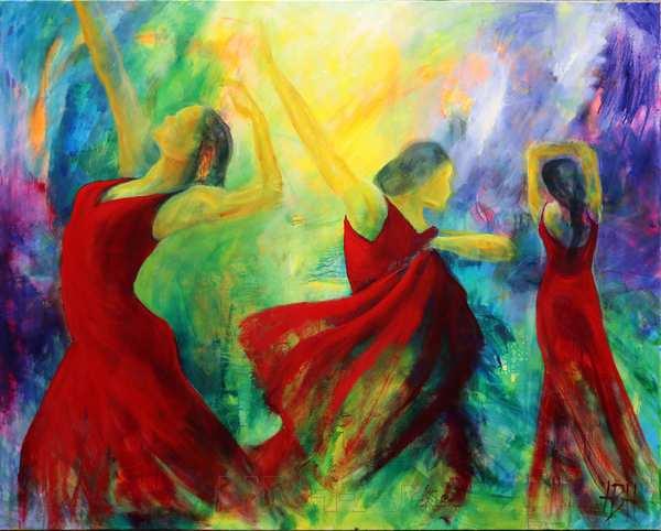 Store oliemalerier af dansere