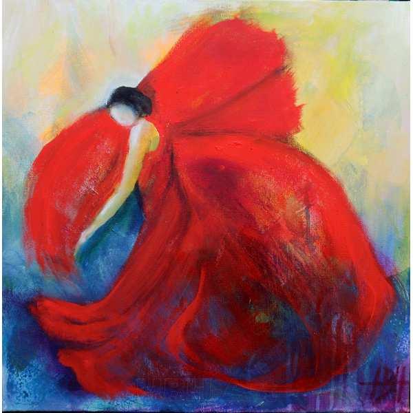 Malerier i olie på lærred Flamencodanser